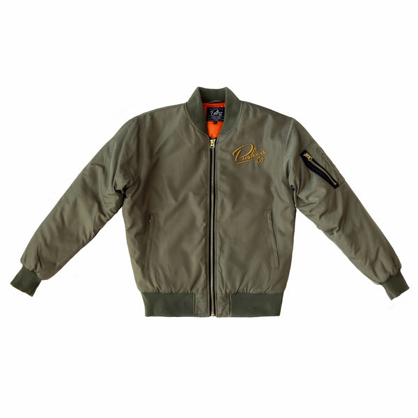 Pushers Co. Unisex Bomber Jacket Green