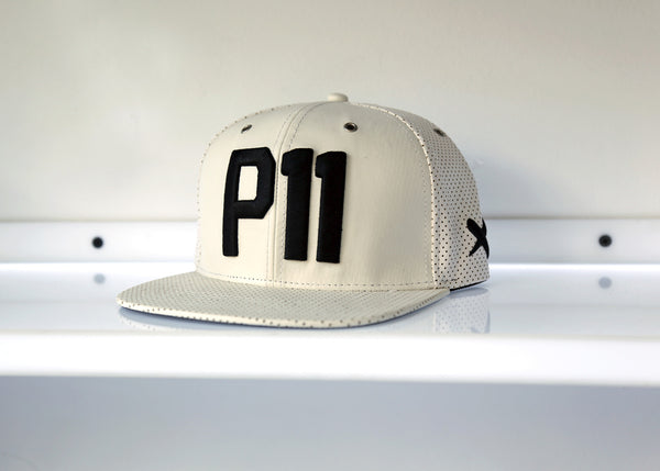 Pushers P11 Leather Snapback White