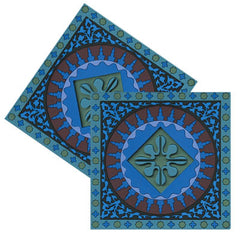 BLUE MOSAIC COASTERS AND KNIFE RESTS BY IMAGES D'ORIENT