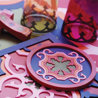 SEJJADEH PINK COASTERS AND KNIFE RESTS BY IMAGES D'ORIENT