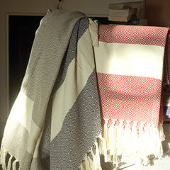 AYLA HANDWOVEN COTTON THROW FROM TURKEY