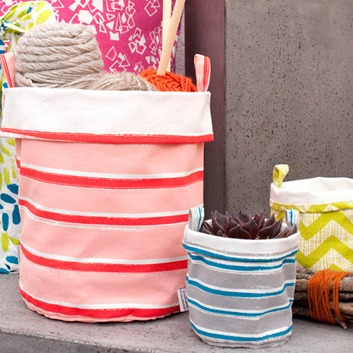 STRIPES CANVAS BUCKETS