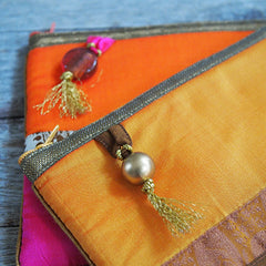 SILK COSMETIC POUCH FROM INDIA