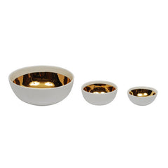 DAUVILLE GOLD-BRUSHED NESTING BOWLS