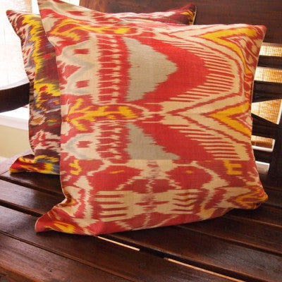 HANDMADE IKAT CUSHION COVER FROM ISTANBUL