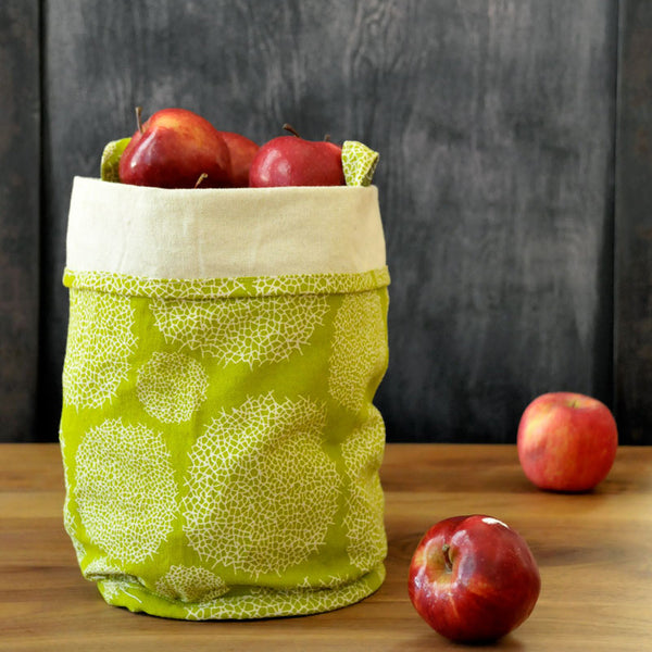 LATTICE CANVAS BUCKETS IN GREEN