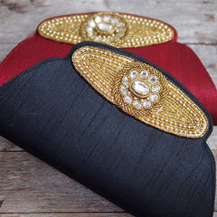 GOLD SILK CLUTCH FROM INDIA