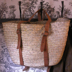 PALM LEAF WOVEN MARKET BACKPACK