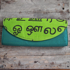 TAMIL-PRINT CLUTCH FROM INDIA - SET OF 2