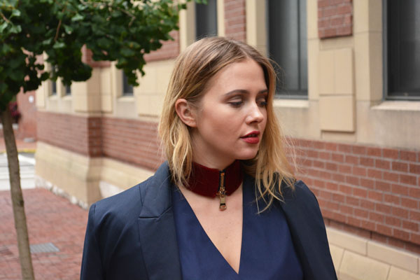 Burgundy Velvet Choker from March VIII