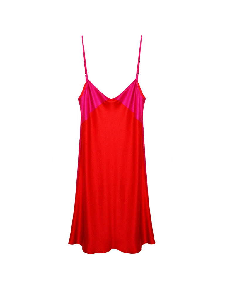 Mini Silk Slip Dress