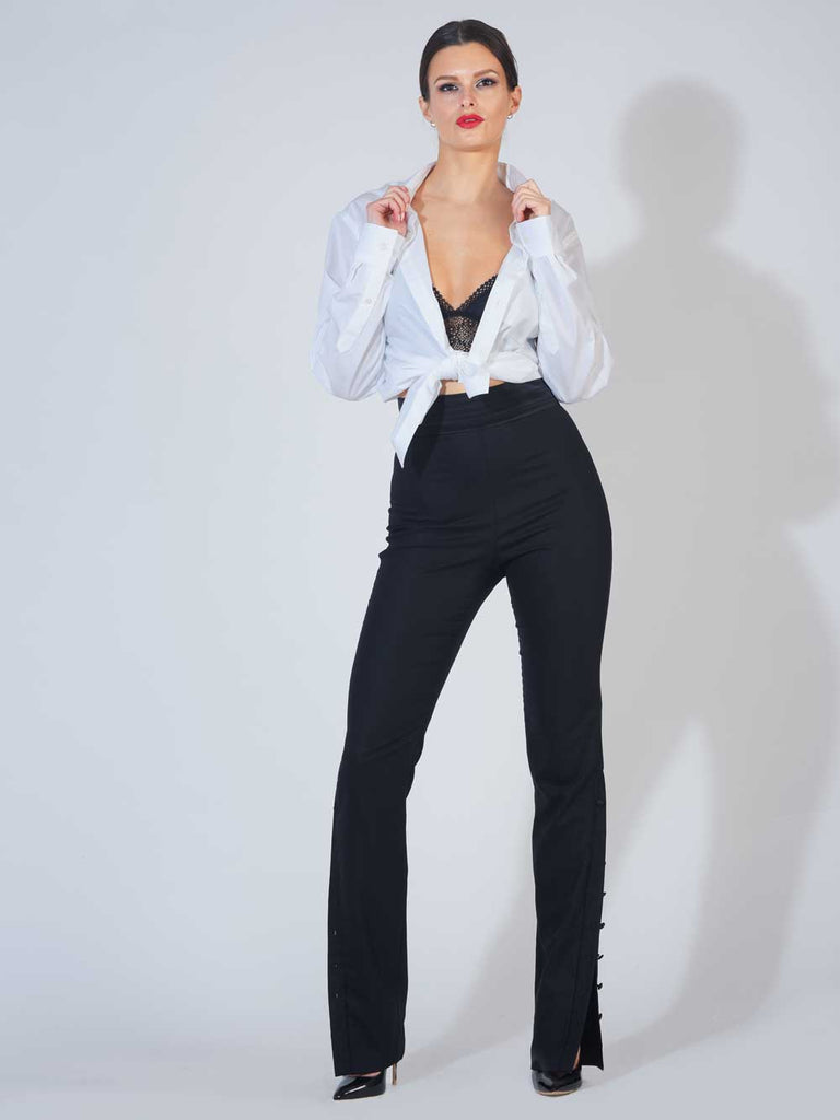 Tuxedo Button Skinny Trousers by March VIII