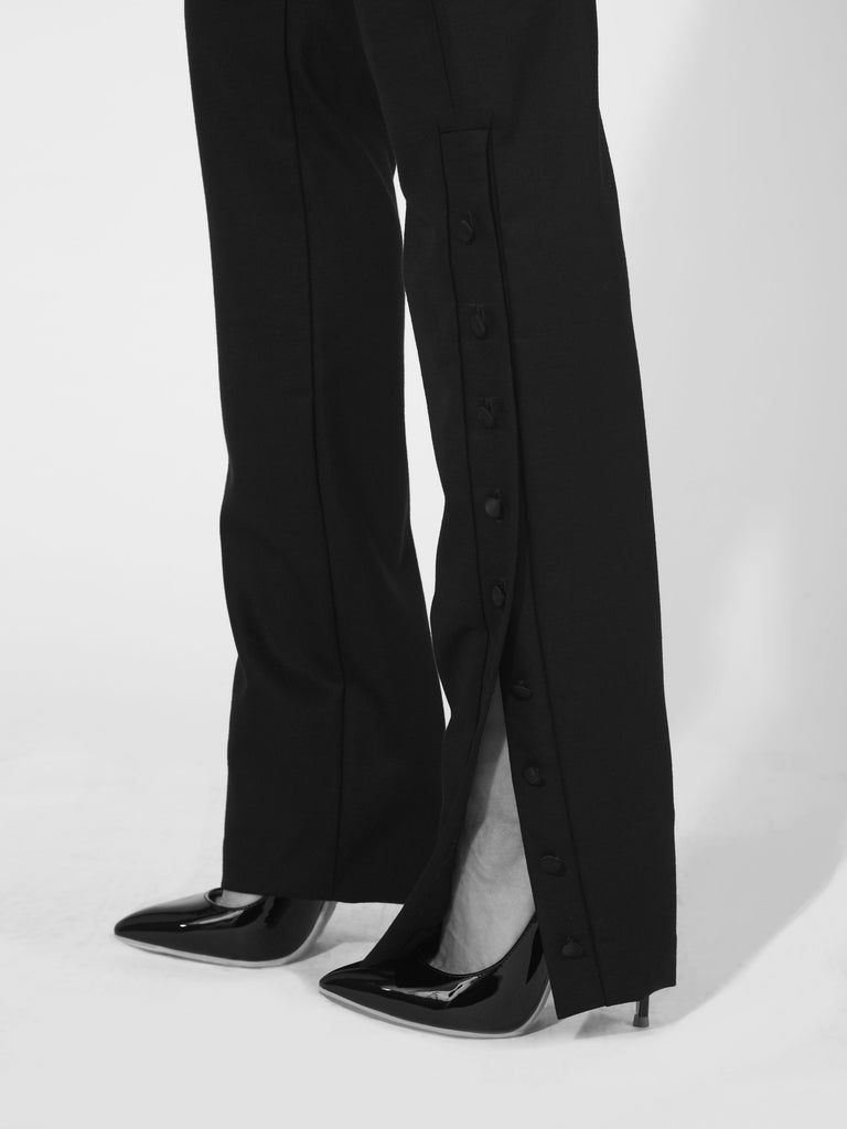 Tuxedo Button Black Pants