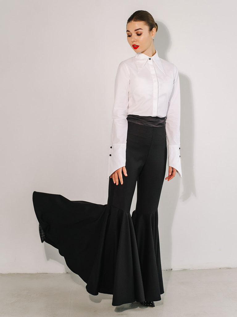 Black Super Flare Dress Pants