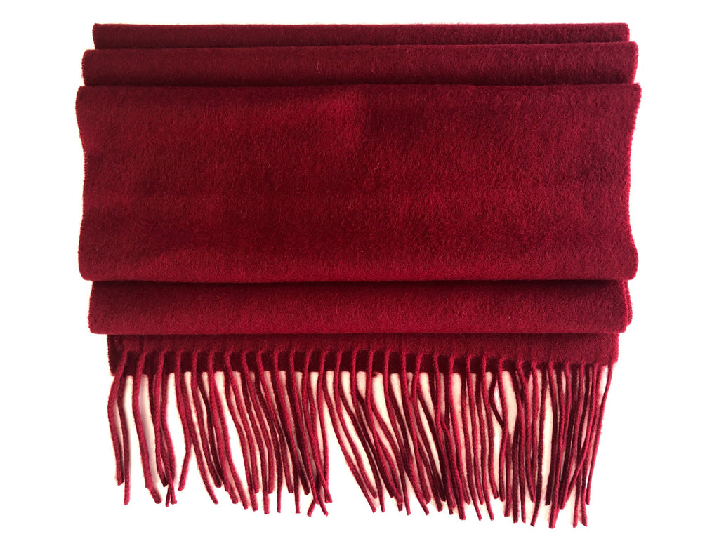 Red plain Cashmere scarf