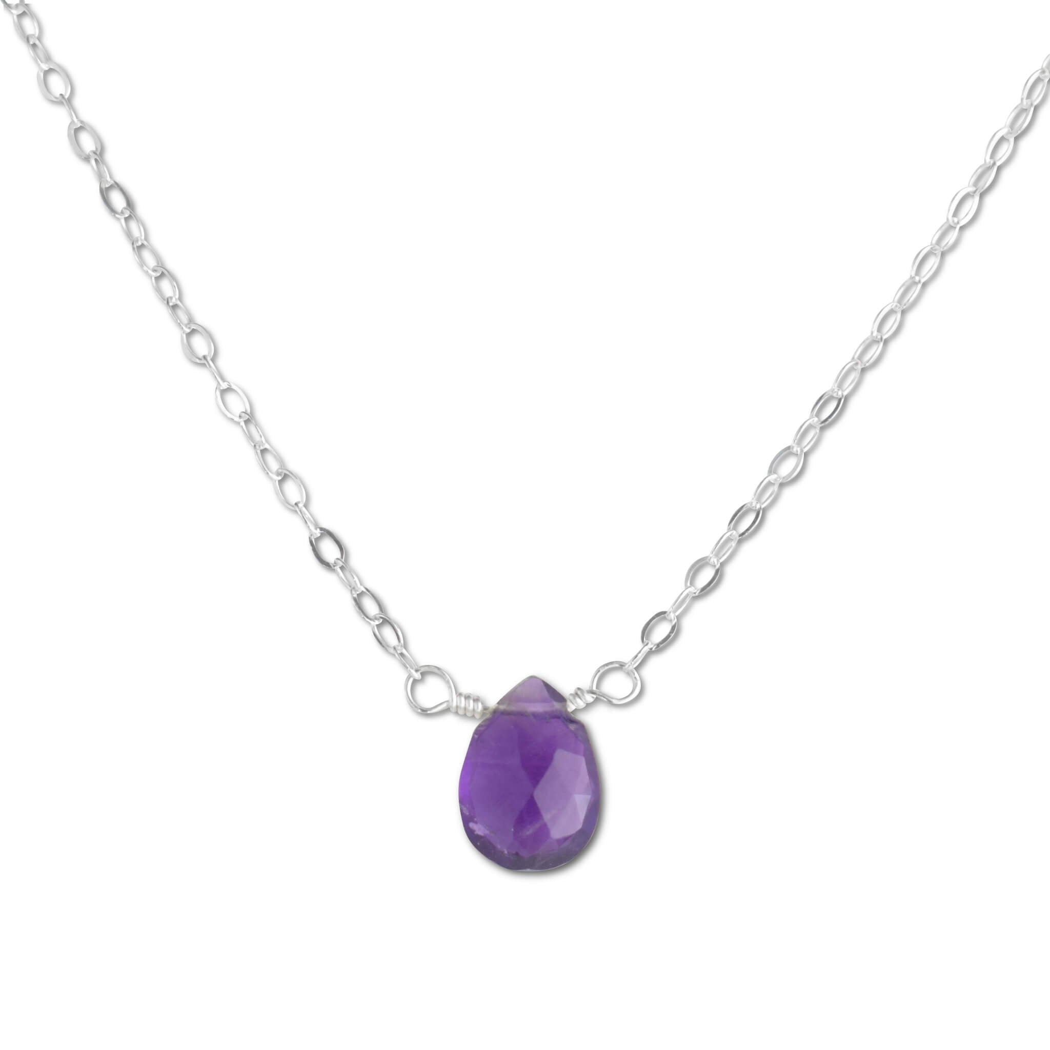 Amethyst Briolette Necklace - aymcollections