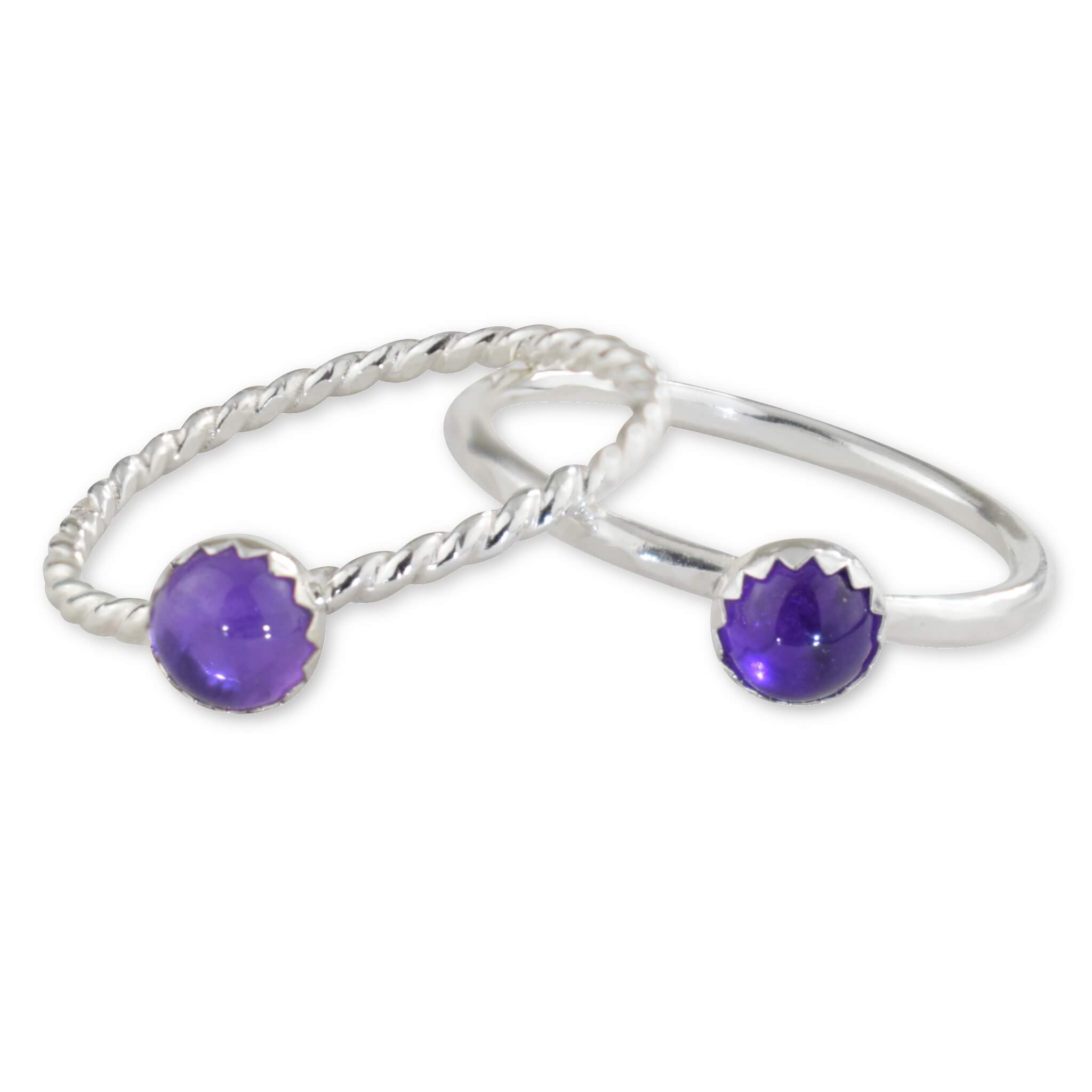 Amethyst Sterling Silver Ring - aymcollections