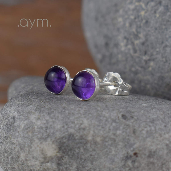 Amethyst Stud Earrings - aymcollections