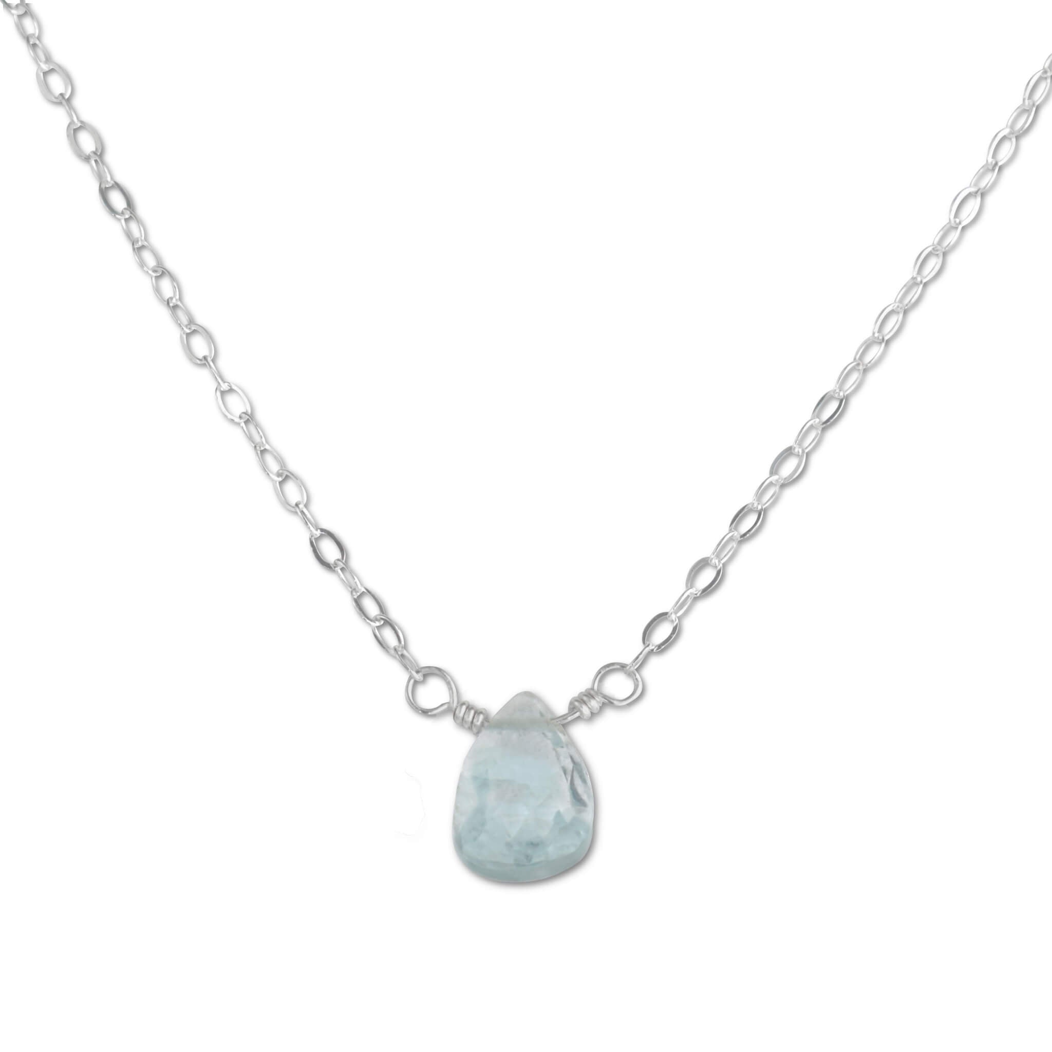 Aquamarine Briolette Necklace - aymcollections