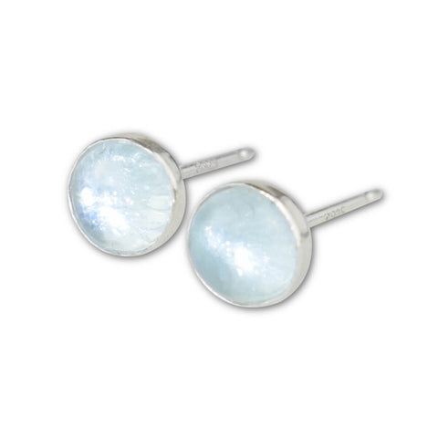 Aquamarine Stud Earrings - aymcollections