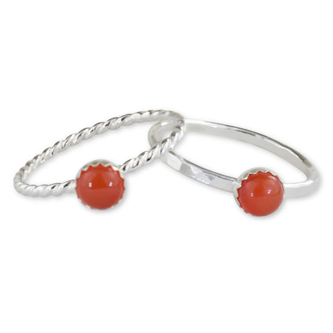 Carnelian Sterling Silver Ring - aymcollections