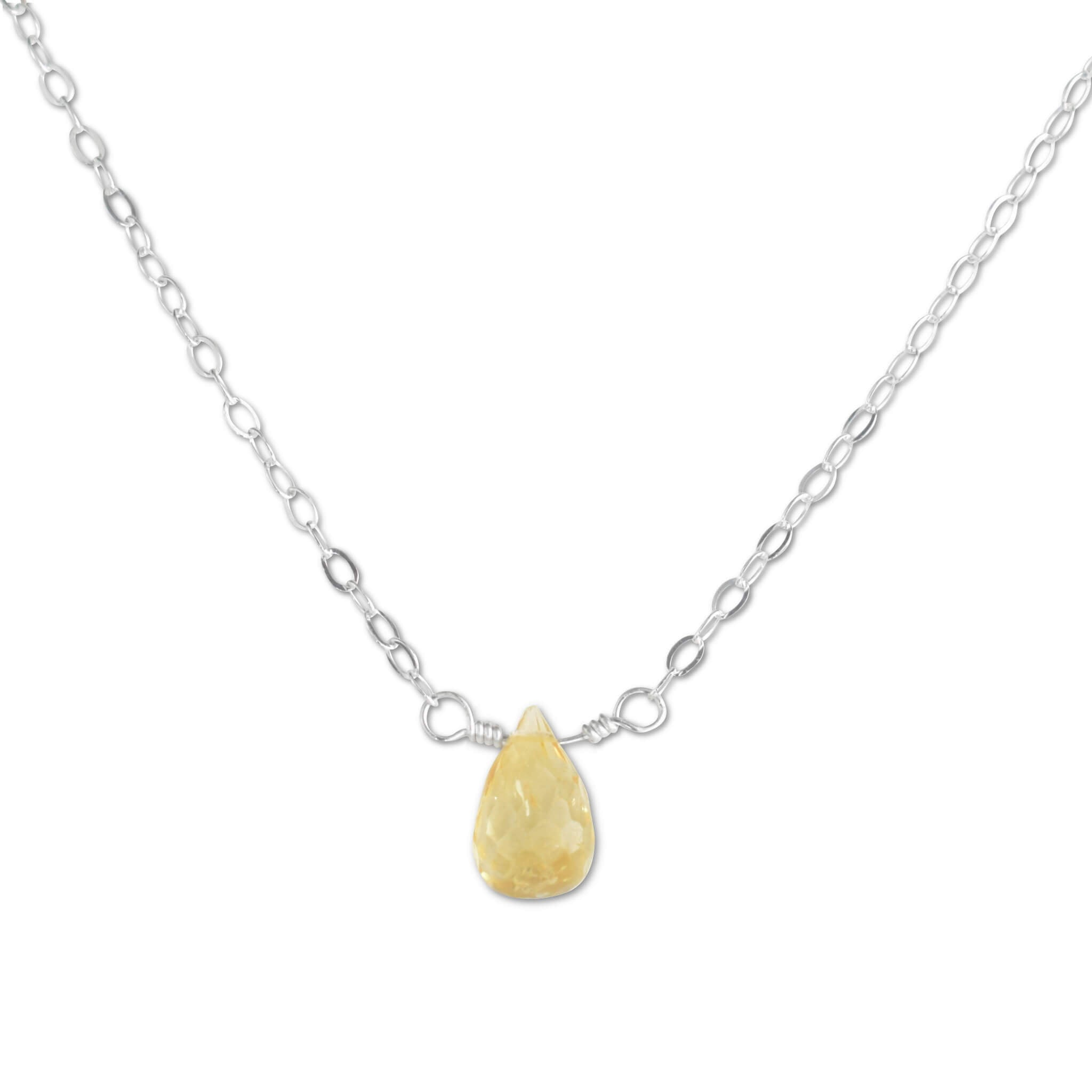Citrine Briolette Necklace - aymcollections