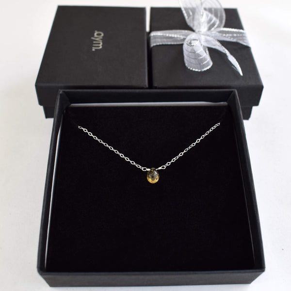 Citrine Briolette Necklace in Gift Box - aymcollections