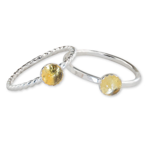 Citrine Sterling Silver Ring - aymcollections