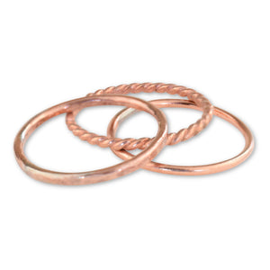 Copper Stacking Rings - aymcollections