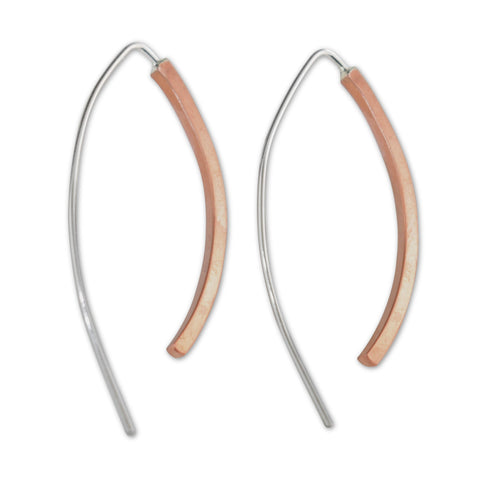 Copper and Sterling Silver Threader Earrings - aymcollections