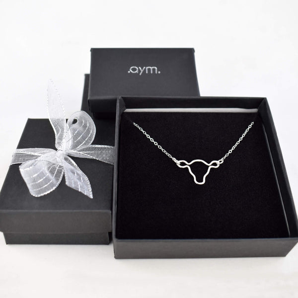 Cow's Head Necklace in Gift Box - aymcollections