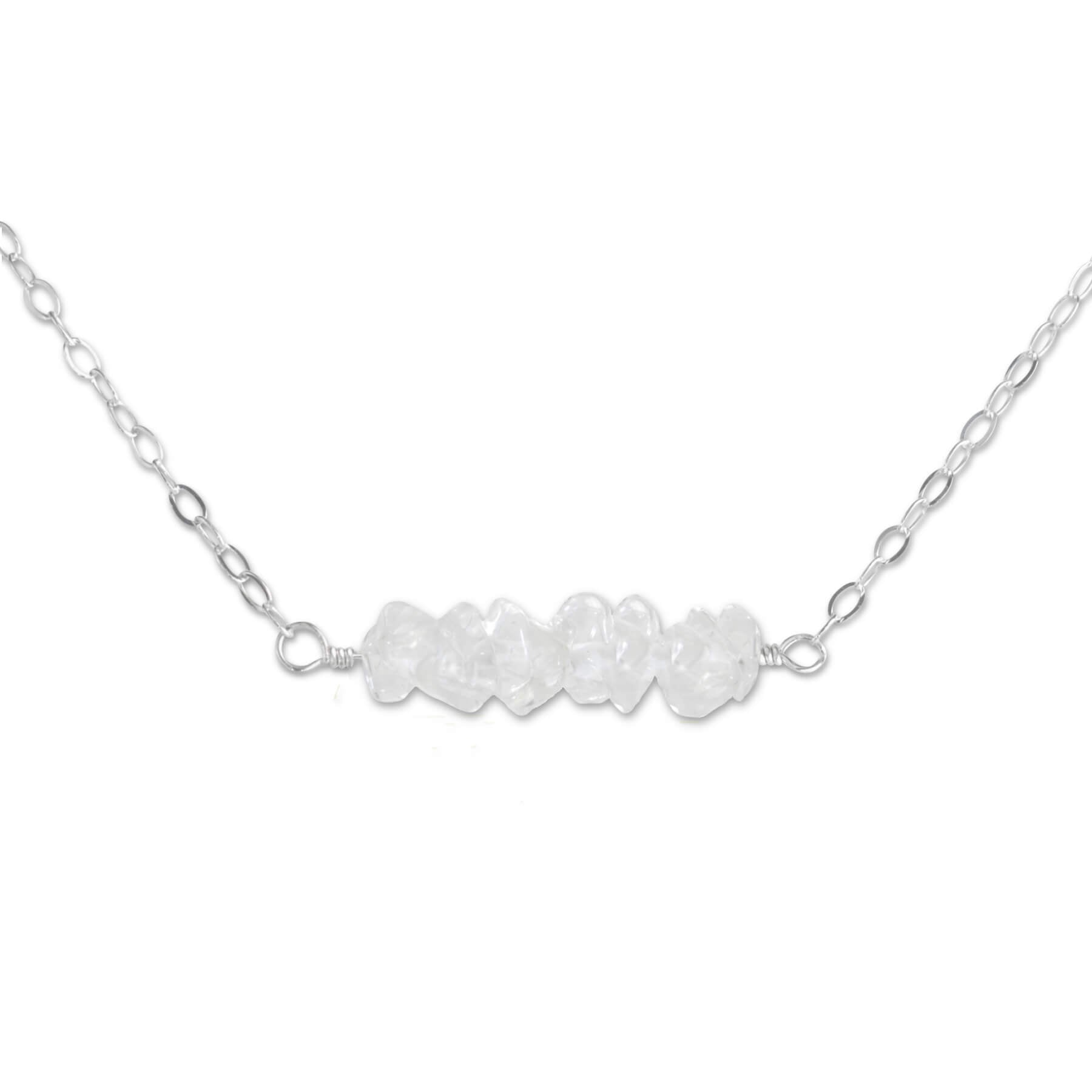Crystal Quartz Bar Necklace - aymcollections