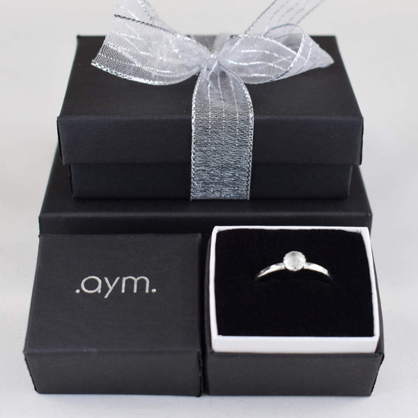 Crystal Quartz Sterling Silver Ring - aymcollections