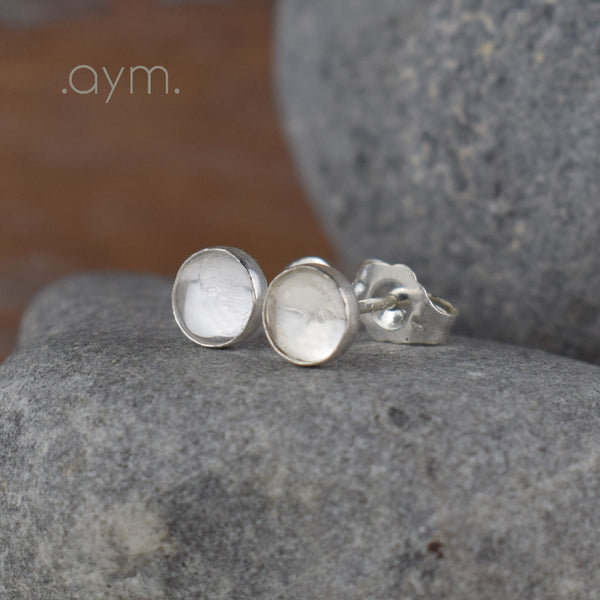 Crystal Quartz Stud Earrings - aymcollections