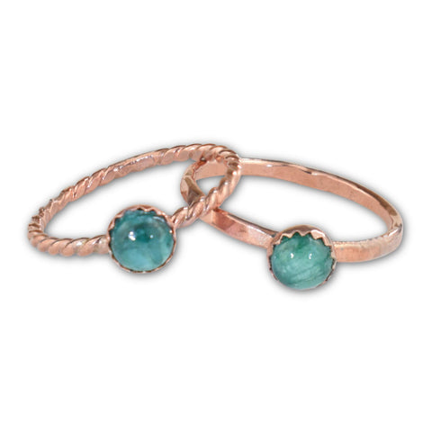 Emerald Copper Ring - aymcollections