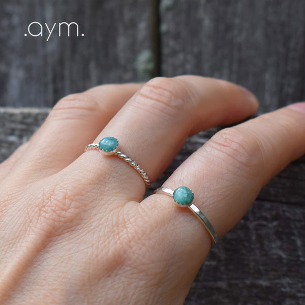 Emerald Sterling Silver Ring - aymcollections