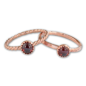 Garnet Copper Ring - aymcollections