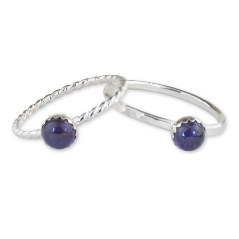 Iolite Sterling Silver Ring - aymcollections