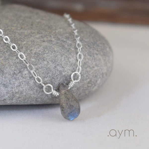 Labradorite Briolette Necklace - aymcollections