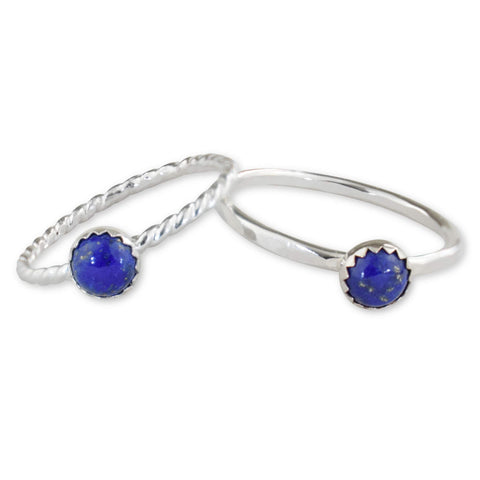 Lapis Lazuli Sterling Silver Ring - aymcollections