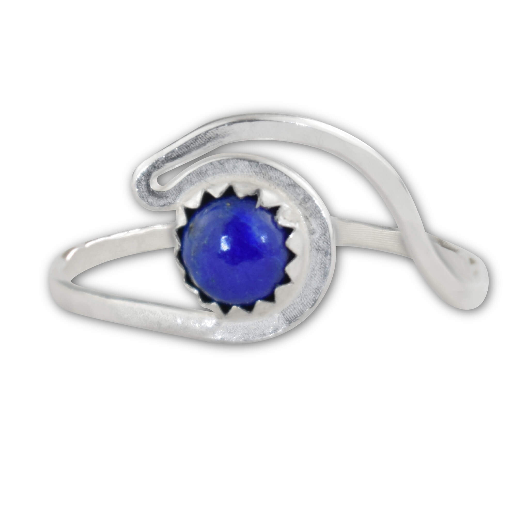 Lapis Lazuli Sterling Silver Wave Ring - aymcollections
