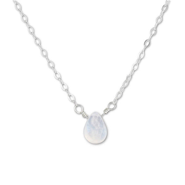 Moonstone Briolette Necklace - aymcollections