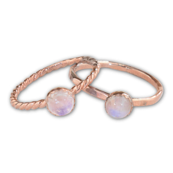 Moonstone Copper Ring - aymcollections