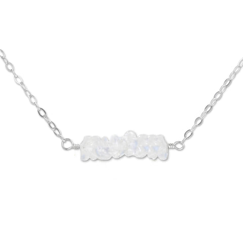 Moonstone Crystal Bar Necklace - aymcollections