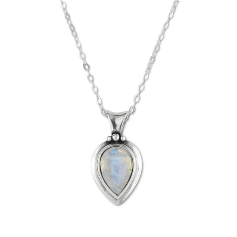 Moonstone Sterling Silver Pendant Necklace - aymcollections