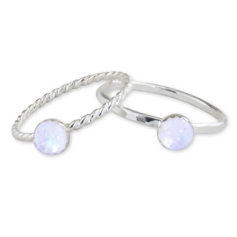 Moonstone Sterling Silver Ring - aymcollections