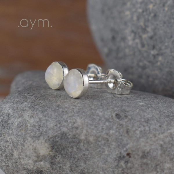 Moonstone Stud Earrings - aymcollections