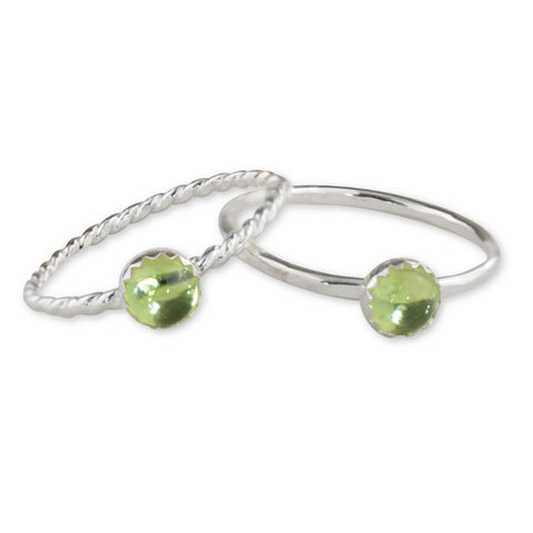 Peridot Sterling Silver Ring - aymcollections