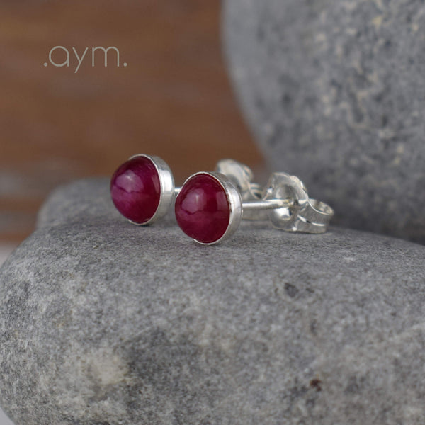 Ruby Stud Earrings - aymcollections
