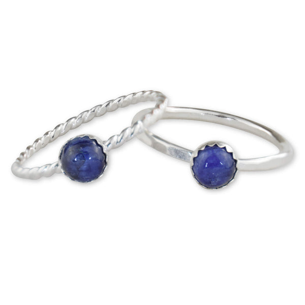 Sapphire Sterling Silver Ring - aymcollections